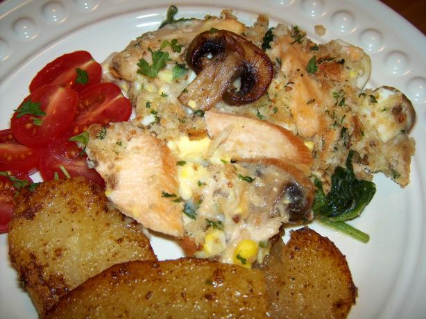Salmon & Spinach Casserole. Photo by Elly in Canada