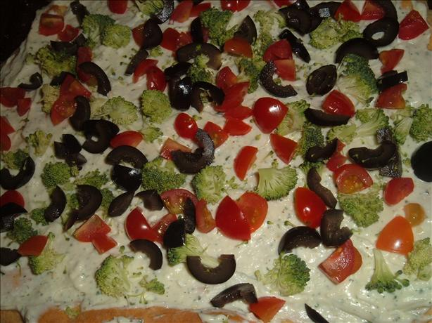 Fresh Vegetable Pizza Appetizer. Photo by Bri22