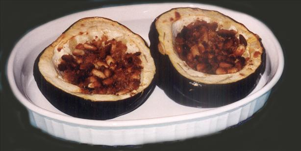 Acorn Squash With Cracker Stuffing. Photo by Bergy