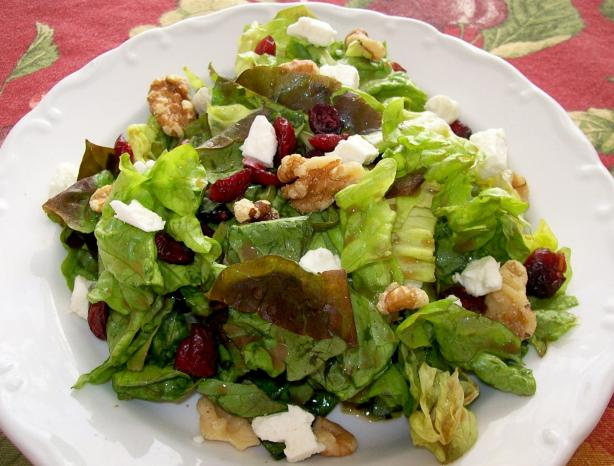 Cranberry, Feta and Walnut Salad. Photo by manrat