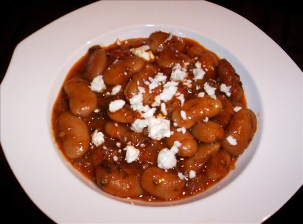 Gigantes (Greek Giant Baked Beans). Photo by evelyn/athens