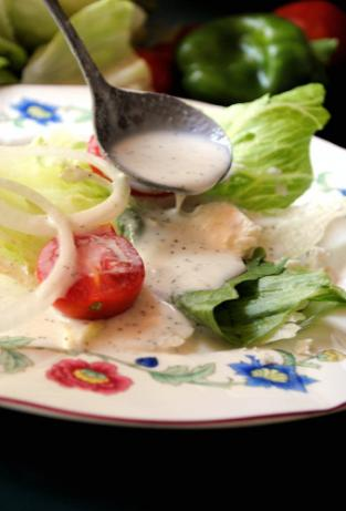 Creamy Greek Salad Dressing. Photo by Andi of Longmeadow Farm