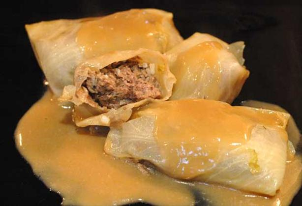 Lahanodolmathes (Greek Cabbage Rolls). Photo by Sackville