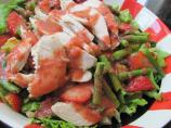 Chicken and Asparagus Salad with Strawberry Dressing