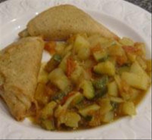 Potato & Zucchini Curry. Photo by Sackville