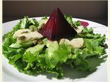 Roasted Beet, Pistachio and Pear Salad