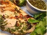 Grilled Chicken With Coriander/Cilantro Sauce