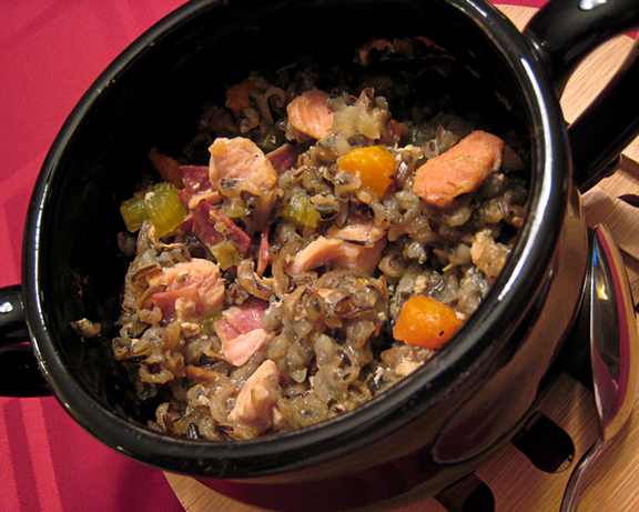 Low-Fat Crock Pot Herbed Turkey and Wild Rice Casserole. Photo by yogiclarebear