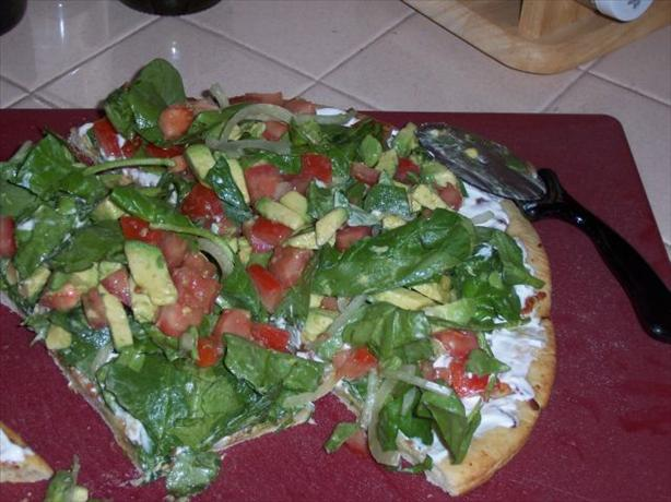 Drake Hogestyn's Salad Pizza. Photo by I Cook Therefore I Am