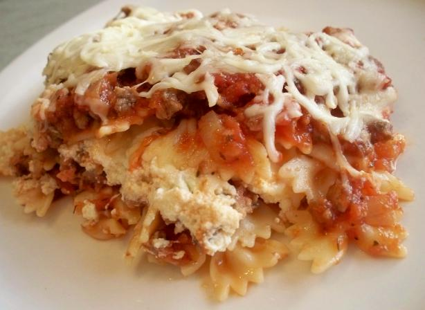 Lasagna Style Bow-Tie Pasta. Photo by *Parsley*