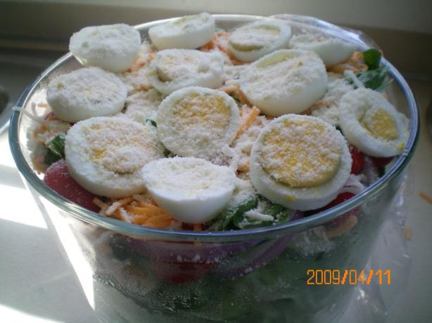Linda's Luscious Layered Salad. Photo by CoffeeB