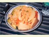 Israeli Simmered Vegetables over Spiced Couscous