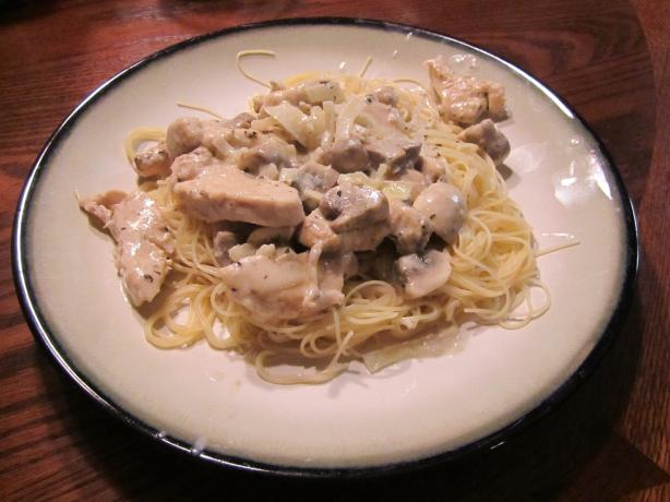 Chicken and Mushrooms in Sherry-Cream Sauce. Photo by Dr.JenLeddy