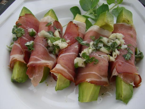Avocado Wrapped in Prosciutto. Photo by Chef*Lee