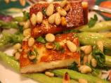 Asparagus, Halloumi and Pine Nut Salad