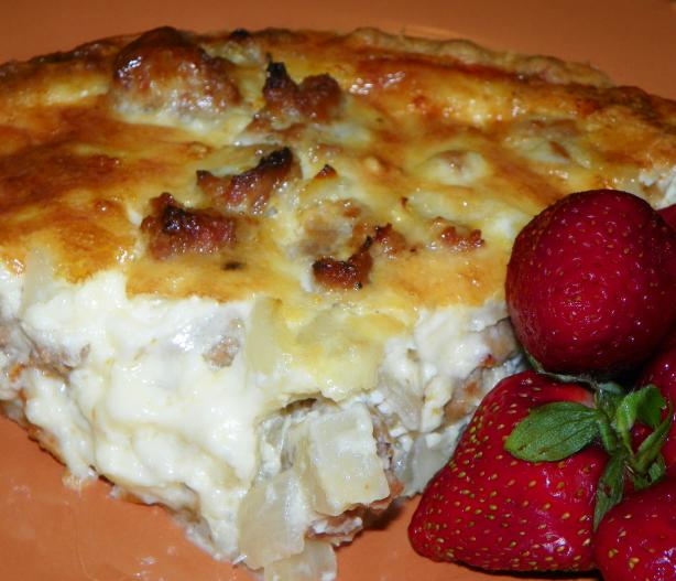 Italian Sausage Pie. Photo by Baby Kato