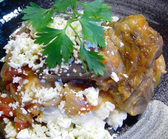 Lamb Shanks with Oregano and Feta. Photo by JustJanS
