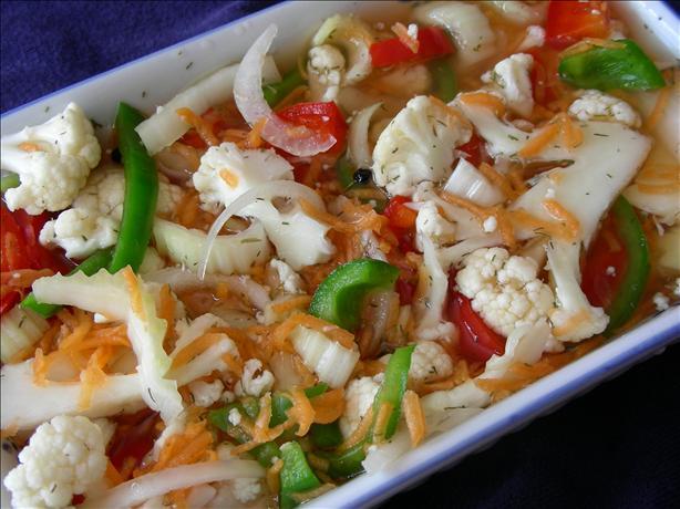 How to Make Italian Pickled Vegetables     GiardinieraItalian Pickled Vegetables