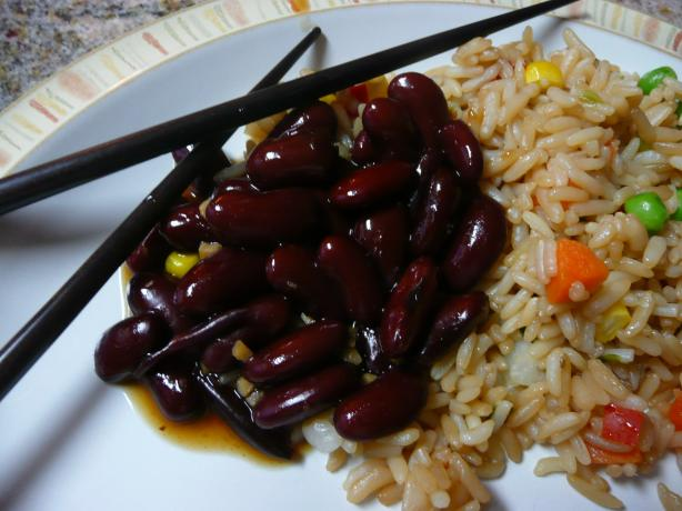 Korean Spiced Kidney Beans. Photo by CaliforniaJan