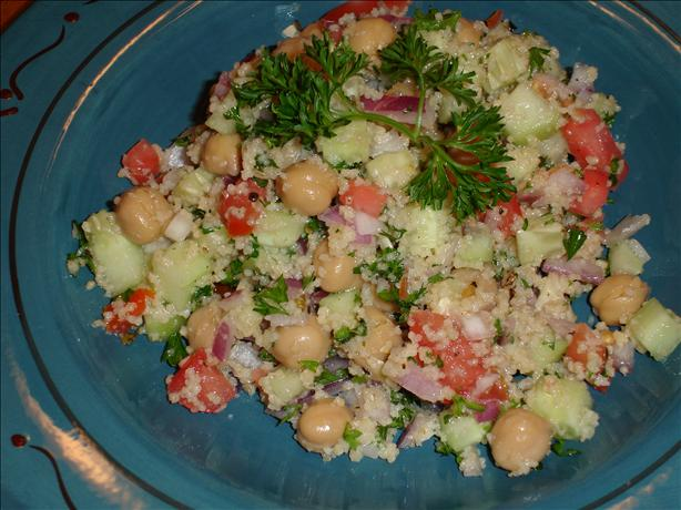 Fresh and Light Garbanzo Salad. Photo by Carianne