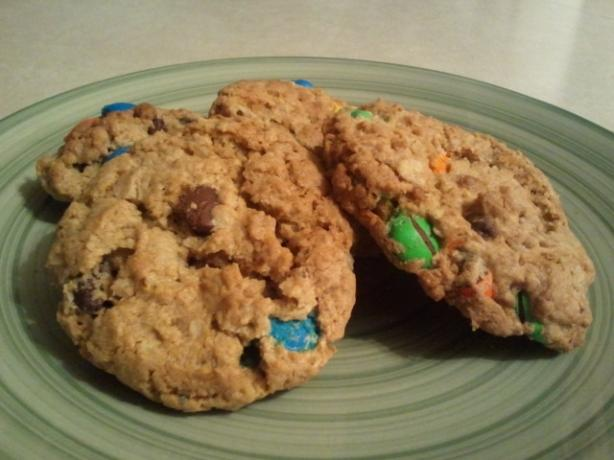 Chewy Red, White, and Blue M&m Cookies. Photo by Danny's Wife :D