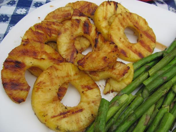 Tequila Orange Glazed Grilled Pineapple. Photo by JanuaryBride