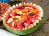 Watermelon Basket Fruit Salad