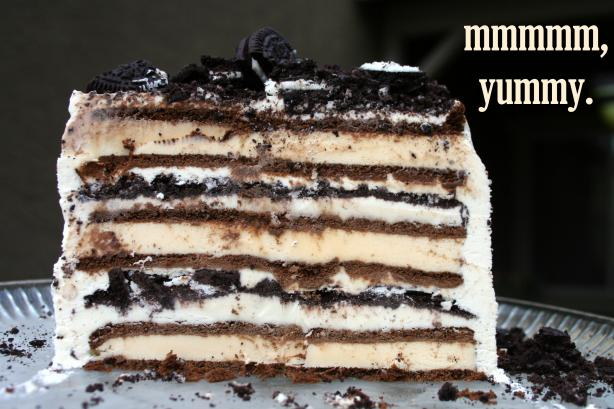 3 Ingredient Ice Cream Sandwich Cake. Photo by WishTrish