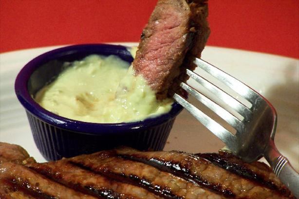 Grilled Strip Steaks With Horseradish Guacamole. Photo by NcMysteryShopper