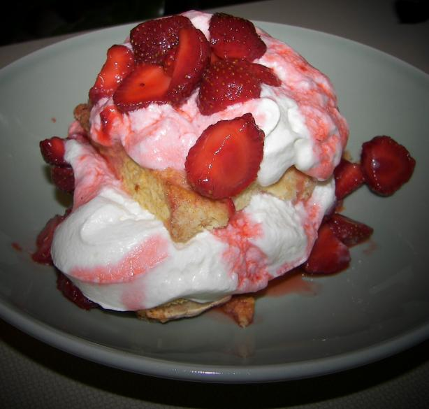 Old Fashioned Strawberry Shortcake with Grand Marnier Cream. Photo by Baby Kato