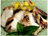 Grilled Chicken Breast with Spicy Pineapple Mango Salsa