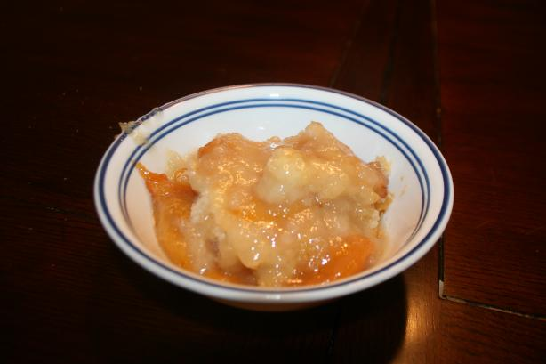 My Grandmother's Fresh Peach Cobbler. Photo by Pale Rose
