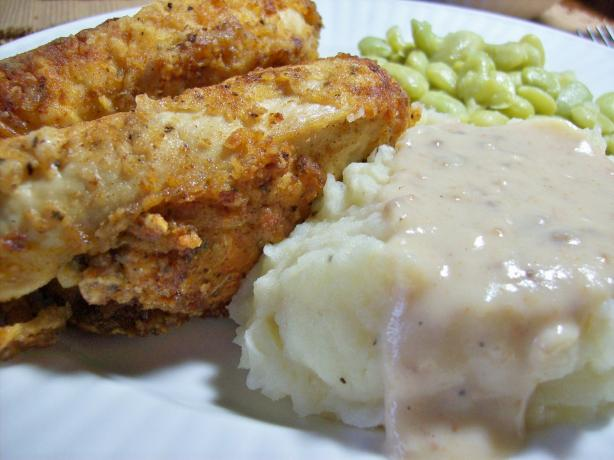 Southern Fried Chicken with Milk Gravy. Photo by Chef shapeweaver ©