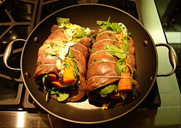 Matambre - Argentine Rolled, Stuffed Flank Steak. Photo by Chris Gulker