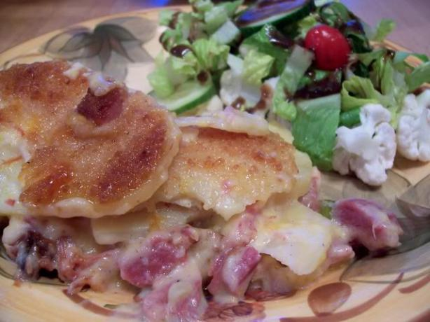 Heavenly Potatoes and Ham. Photo by Chef Petunia