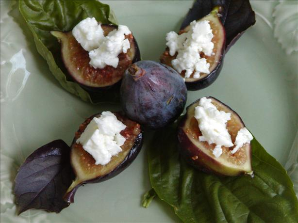 Grilled Figs Topped with Feta Cheese. Photo by Rita~