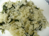 Garlicky Spinach Rice