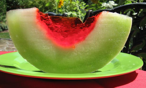 Jello Melon Wedges. Photo by Kathy at Food.com