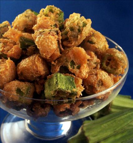 Fried Okra With Crispy Parmesan Coating. Photo by PaulaG