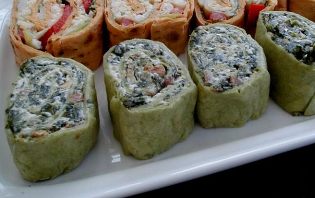Spinach Pinwheel Appetizers. Photo by ms_bold