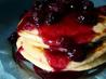 Blueberry Sour Cream Pancakes With Blueberry Sauce. Recipe by chelgilm