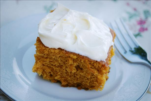 Pumpkin Cake Bars With Cream Cheese Frosting!. Photo by Dine & Dish