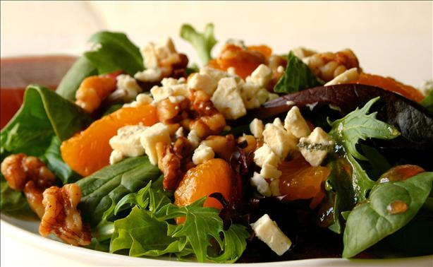 Toasted Walnut Salad With Mandarin Oranges and Gorgonzola Cheese. Photo by GaylaJ