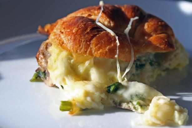 Croissant Breakfast Casserole. Photo by sloe cooker