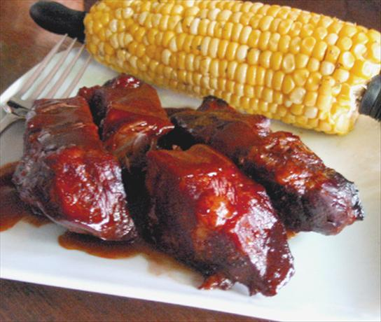 Crock Pot BBQ Ribs. Photo by Caroline Cooks