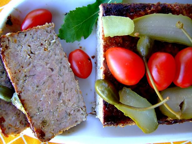 Pork, Orange and Sage Meatloaf. Photo by Zurie