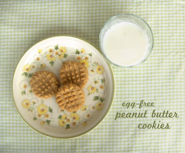 Egg-Free Peanut Butter Cookies. Photo by MariaFonnesbeck
