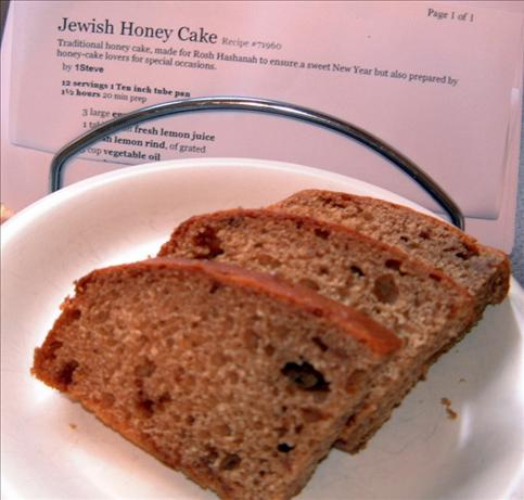 Jewish Honey Cake. Photo by Tulip-Fairy
