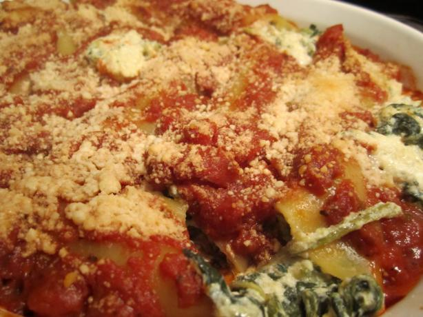 Kittencal's Spinach & Four-Cheese Manicotti (Vegetarian). Photo by amri92