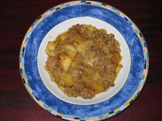 Ground Beef and Potato Curry. Photo by jenna sais quoi